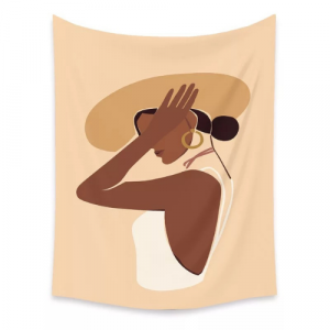 Home Women Portrait Design Wall Hang Tapestry