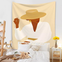 Home Girl Portrait Design Wall Hang Tapestry