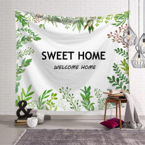 Home Sweet Home Design Wall Hang Tapestry