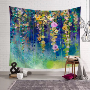 Home Decor Colorful Floral Design Wall Hang Tapestry