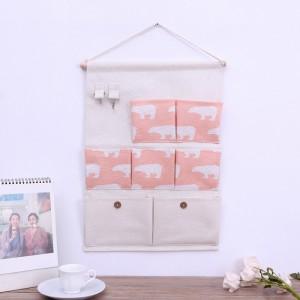 Multi Functional Wall Hanging Waterproof Storage Organizer - White Pink