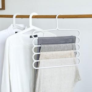 Multi Layer Non Slip Clothes Hanger - White