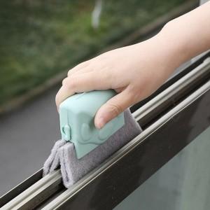 Multi Purpose Window Groove Dust Cleaning Brush - Green