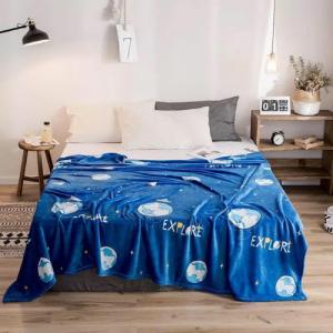 Earth Design Double Size Fleece Blanket - Decent Blue