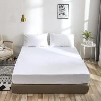 Double Size Plain 3 Pieces Fitted Sheet Set - White Color