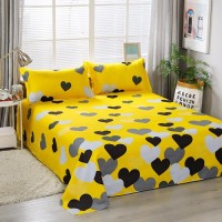 Hearts Design 3 Pieces King, Queen, and Double Universal Bedsheet Set