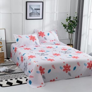 Cute Floral Design 3 Pieces King Queen and Double Universal Bedsheet Set