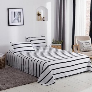 Stripes Design 3 Pieces King Queen and Double Universal Bedsheet Set