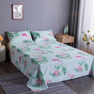 Flamingo Design 3 Pieces King Queen and Double Universal Bedsheet Set