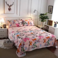 Butterfly Designs 3 Pieces King, Queen, and Double Universal Bedsheet Set
