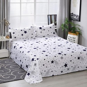 Stars Designs 3 Pieces King Queen and Double Universal Bedsheet Set