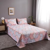 Geometric Design 3 Pieces King Queen and Double Universal Bedsheet Set