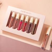 6 Pieces Box Matte Lip Gloss Lipsticks Set - Multi Color