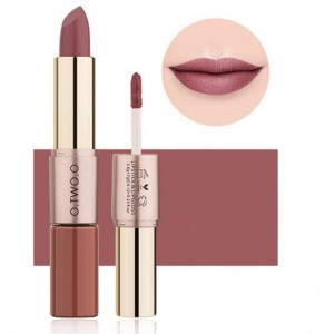 2 In 1 Double Head Matte Mist Lip Gloss Lipstick # 02