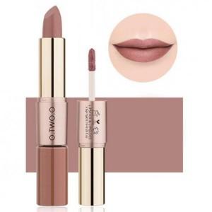 2 In 1 Double Head Matte Mist Lip Gloss Lipstick # 04