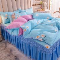 Floral Digital Printed High Quality Soft Bedding Set - 1.5 Meters