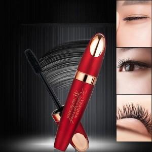 Thick Waterproof Silicone Brush Eye Makeup Mascara - Red