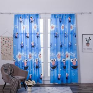 Window Curtains Children Design Double Layer Set of 2 Pieces