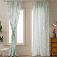 Floral Design Window Curtains Set of 2 Pieces