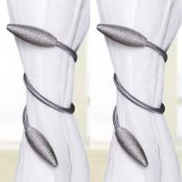 2 Pieces - Curtain Holder Tieback - Gray