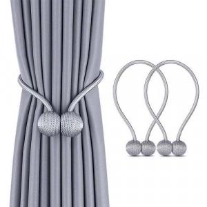 2 Pieces - Curtain Holder Tieback - Gray Color
