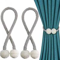 2 Pieces - Curtain Holder Tieback - Silver Color