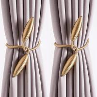 2 Pieces - Curtain Holder Tieback - Beige Color