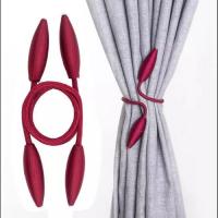 2 Pieces - Curtain Holder Tieback - Maroon