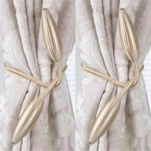 2 Pieces - Curtain Holder Tieback - Cream White