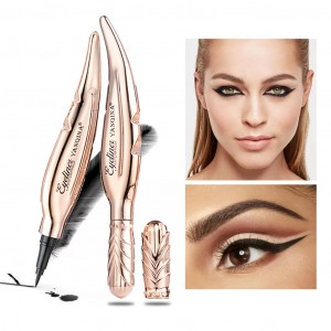 1piece High Quality Waterproof Feather Eyeliner - Golden