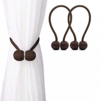 2 Pieces - Curtain Holder Tieback - Dark Brown