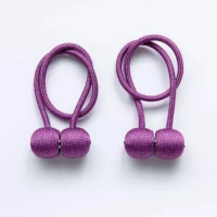 2 Pieces - Magnetic Tieback Curtain Holder Purple Color