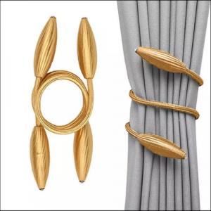 2 Pieces - Curtain Holder Tieback - Golden