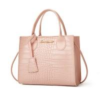 Crocodile Animal Pattern Zipper Closure Handbags - Pink