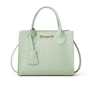 Crocodile Animal Pattern Zipper Closure Handbags - Green