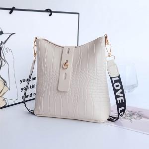 Synthetic Leather Twist Lock Women Fashion Vintage Handbags - White