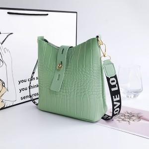 Synthetic Leather Twist Lock Women Fashion Vintage Handbags - Green