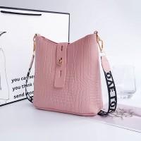 Synthetic Leather Twist Lock Women Fashion Vintage Handbags - Pink