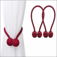 2 Pieces - Magnetic Tieback Curtain Holder - Maroon