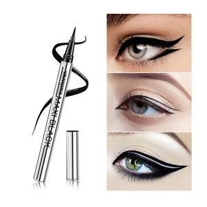 Slim Waterproof Anti Sweat Liquid Eyeliner Pen - Black