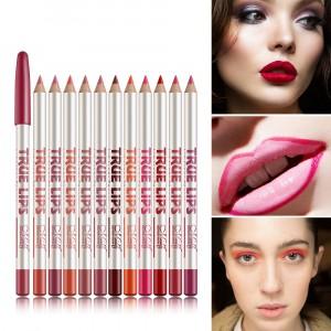 12 Pcs Sets Colored Waterproof Labial Lip Line Pen - Multi Color