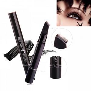 New Design Rotatable Waterproof Thick Comb Brush Mascara - Black