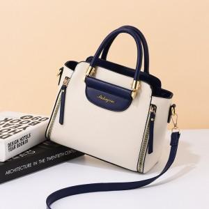 Fashionable Versatile Single Shoulder Bag - Blue White