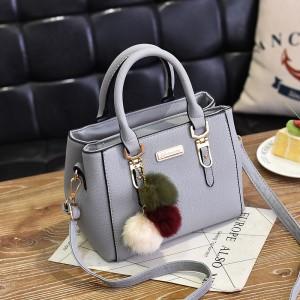 Fashion Senior Large Capacity Handbag - Gray