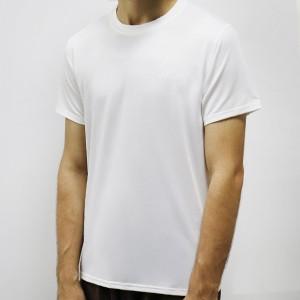 Round Neck Short Sleeved Summer Wear Men T-Shirt - White