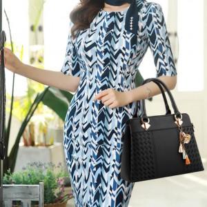 High Quality Fashion Handbag One Shoulder Bag - Black
