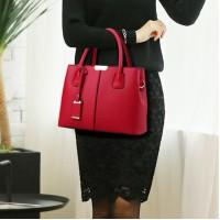 New Design Women Fashion Handbag - Wine Red