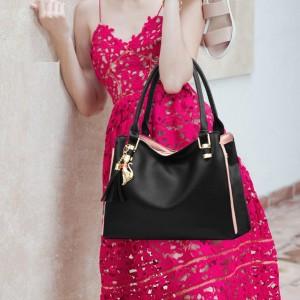 Large Capacity Simple Temperament Shoulder Bags - Black
