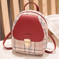 Synthetic Leather Luxury Fashion Magnetic Lock Backpack - Red