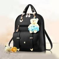 New Trend Casual Backpack Shoulder Bag - Black